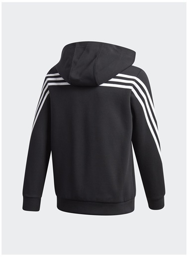 adidas adidas GE0663 3-Stripes Doubleknit Tam Boy Fermuarlı Eşofman Üstü Siyah